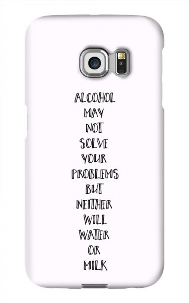 Samsung Galaxy S6 Edge 3D-Case (glossy) Gibilicious Design Alcohol may not solve problems von swook! - switch your look