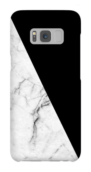 Samsung Galaxy S8  3D-Case (glossy) Gibilicious Design Black with white marble von swook! - switch your look