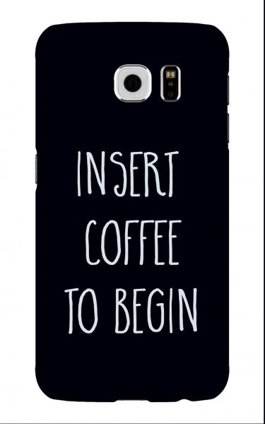 Samsung Galaxy S6 3D-Case (glossy) Gibilicious Design Insert coffee to begin von swook! - switch your look