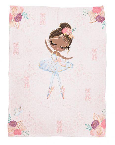 Ballerina 2 - Babydecke mit Namen