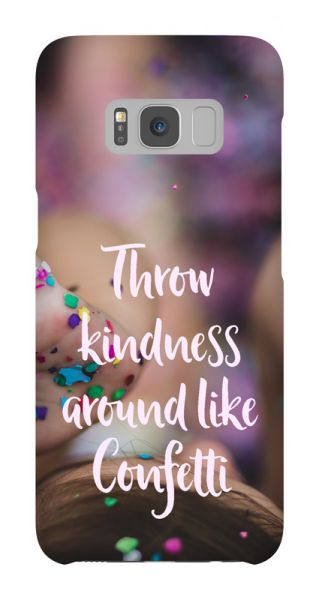 Samsung Galaxy S8  3D-Case (glossy) Gibilicious Design Throw kindness around von swook! - switch your look