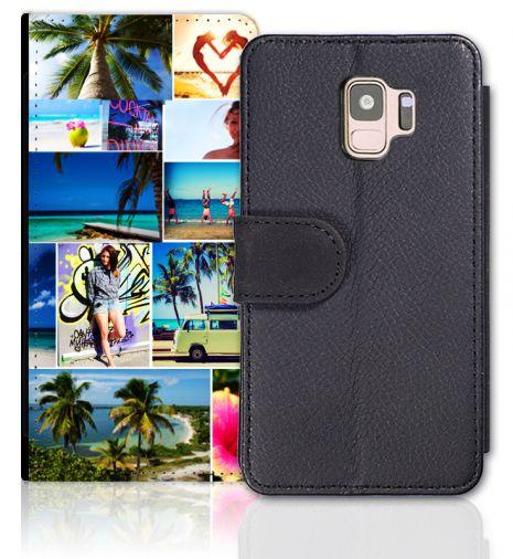 Sideflip-Case (schwarz) passend für Samsung Galaxy S9, Selbst gestalten