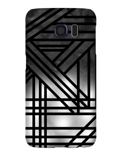 Samsung Galaxy S6 3D-Case (glossy) Gibilicious Design Grey smoke with black lines von swook! - switch your look
