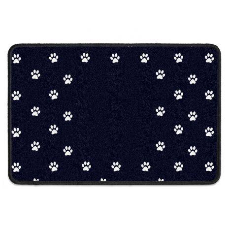 Hunde Fußmatte mit deinem Wunschtext - I work hard for my dog