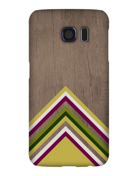 Samsung Galaxy S6 3D-Case (glossy) Gibilicious Design Yellow pattern wood von swook! - switch your look