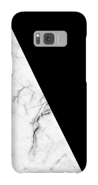 Samsung Galaxy S8 Plus 3D-Case (glossy) Gibilicious Design Black with white marble von swook! - switch your look