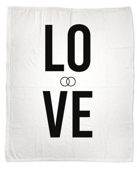 Love (+Text) - Kuscheldecke mit Namen