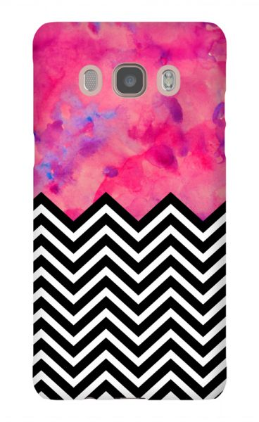 Samsung Galaxy J5 (2015) 3D-Case (glossy) black and white and PINK von swook! - switch your look