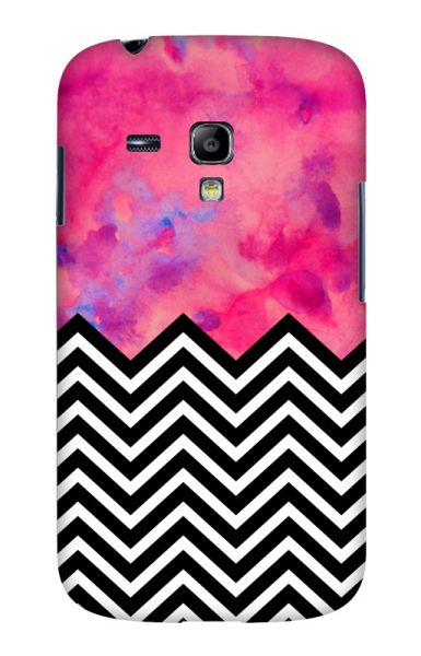 Samsung S3 Mini (i8190) 3D-Case (glossy) black and white and PINK von swook! - switch your look