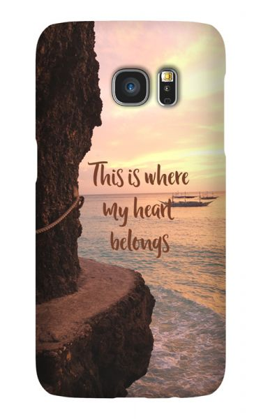 Samsung Galaxy S7 3D-Case (glossy) Gibilicious Design Where my heart belongs von swook! - switch your look