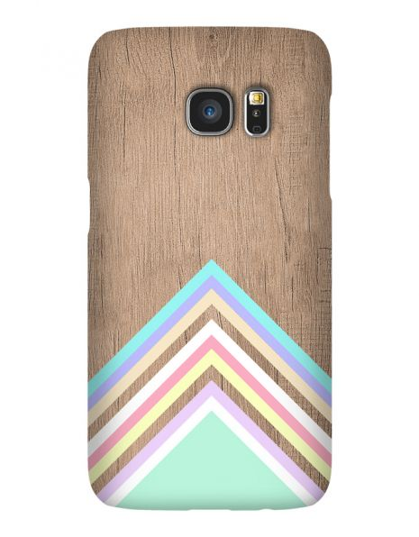 Samsung Galaxy S7 Edge 3D-Case (glossy) Gibilicious Design Baby blue pattern on wood von swook! - switch your look
