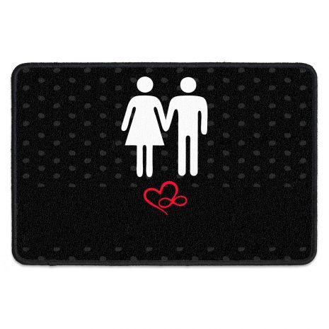 Fußmatte für Paare - mit Namen und Datum - Mann & Frau
