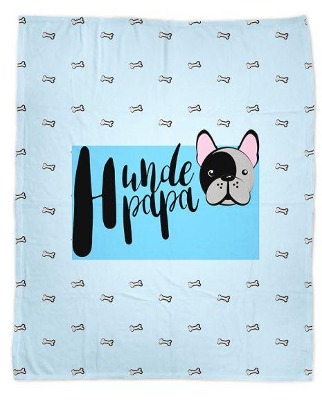 Hundepapa - Hundedecke mit Namen