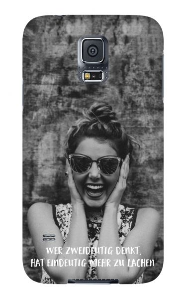 Samsung Galaxy S5 3D-Case (glossy) Gibilicious Design Wer zweideutig denkt von swook! - switch your look