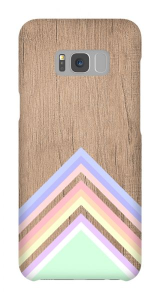 Samsung Galaxy S8 Plus 3D-Case (glossy) Gibilicious Design Baby blue pattern on wood von swook! - switch your look
