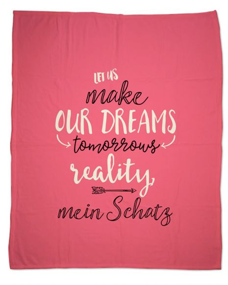 Dreams - Kuscheldecke mit Namen