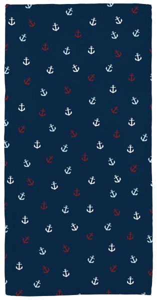Anker bunt - Handtuch mit Namen