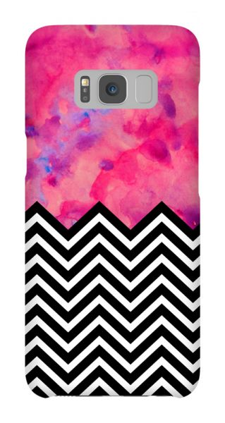 Samsung Galaxy S8  3D-Case (glossy) Gibilicious Design black and white and PINK von swook! - switch your look
