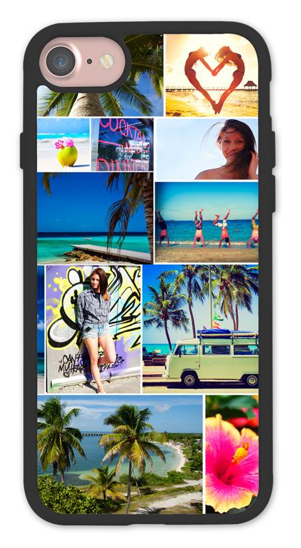 bumper case schwarz passend f r apple iphone 7 8 selbst gestalten iphone 7 apple. Black Bedroom Furniture Sets. Home Design Ideas