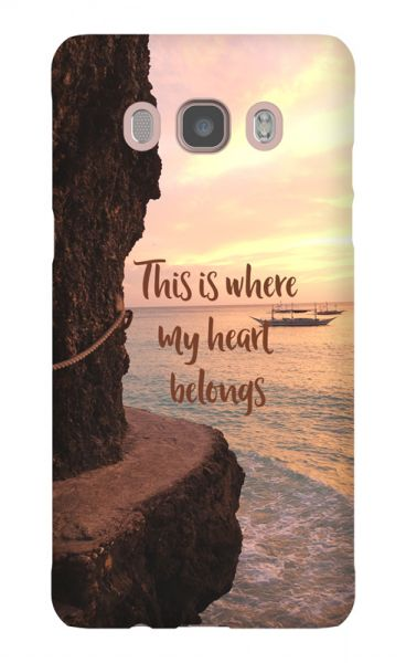 Samsung Galaxy J5 (2016) 3D-Case (glossy) Gibilicious Design Where my heart belongs von swook! - switch your look