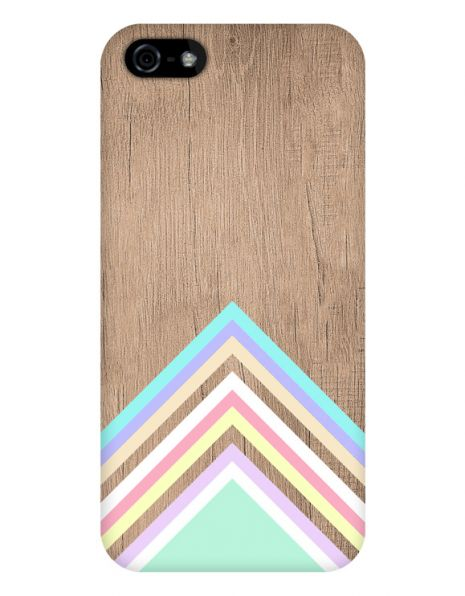 Apple iPhone 5/5S/SE 3D-Case (glossy) Gibilicious Design Baby blue pattern on wood von swook! - switch your look