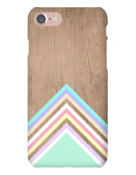 Apple iPhone 7 3D-Case (glossy) Gibilicious Design Baby blue pattern on wood von swook! - switch your look