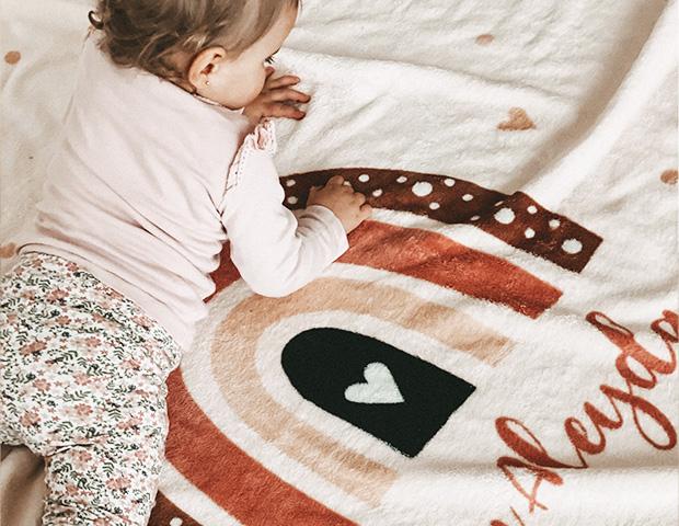 Personalisierte Babydecken als Geschenk