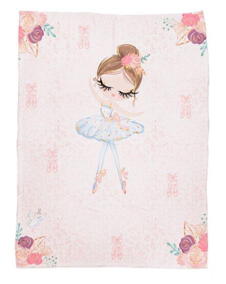 Ballerina 1 - Babydecke mit Namen