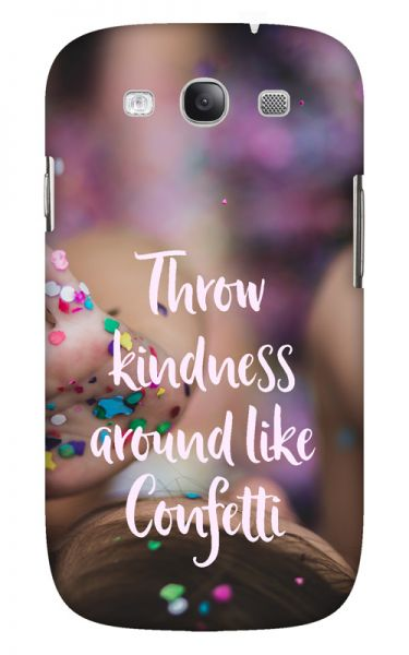 Samsung Galaxy S3 (i9300) 3D-Case (glossy) Gibilicious Design Throw kindness around von swook! - switch your look