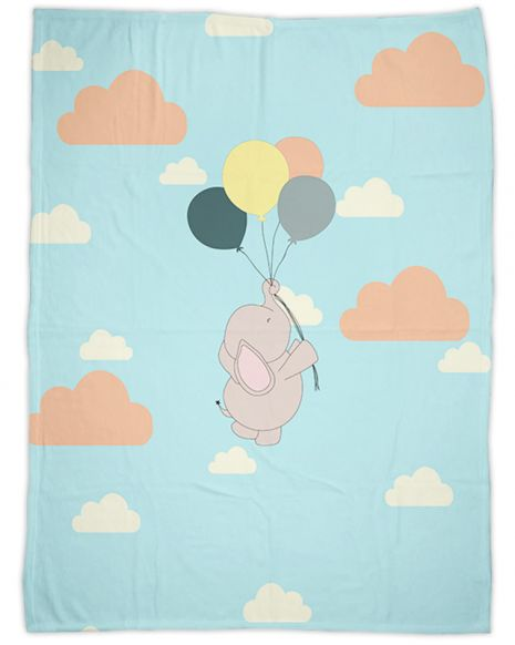 Elefant - Babydecke mit Namen