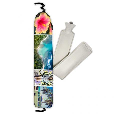 Wärmflasche & Bezug 2,5l auf Samt mit Band, selbst gestalten