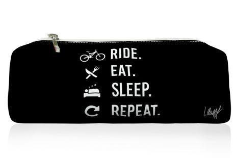 Federmäppchen - Ride Eat Sleep Repeat (black)