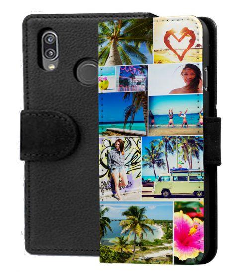 Sideflip-Case (schwarz) passend für Huawei P20 lite, Selbst gestalten