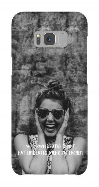Samsung Galaxy S8 Plus 3D-Case (glossy) Gibilicious Design Wer zweideutig denkt von swook! - switch your look