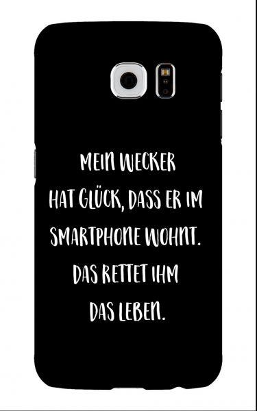 Samsung Galaxy S6 3D-Case (glossy) Gibilicious Design Mein Wecker hat Glueck von swook! - switch your look