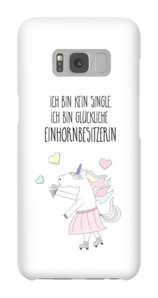 Samsung Galaxy S8  3D-Case (glossy) Gibilicious Design Happy unicorn owner von swook! - switch your look