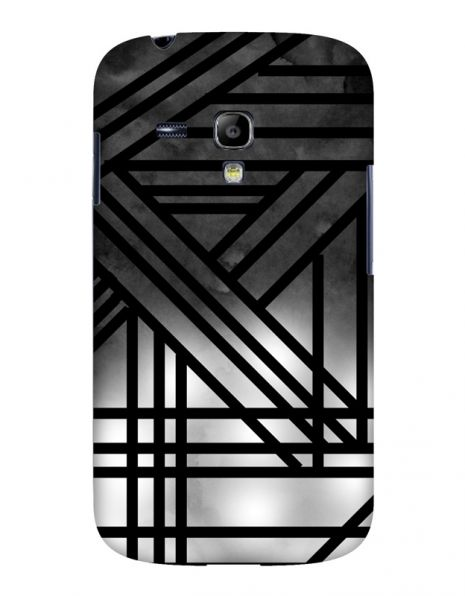 Samsung S3 Mini (i8190) 3D-Case (glossy) Gibilicious Design Grey smoke with black lines von swook! - switch your look