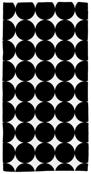 Black circles - Handtuch mit Namen