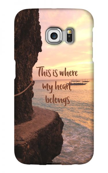 Samsung Galaxy S6 Edge 3D-Case (glossy) Gibilicious Design Where my heart belongs von swook! - switch your look