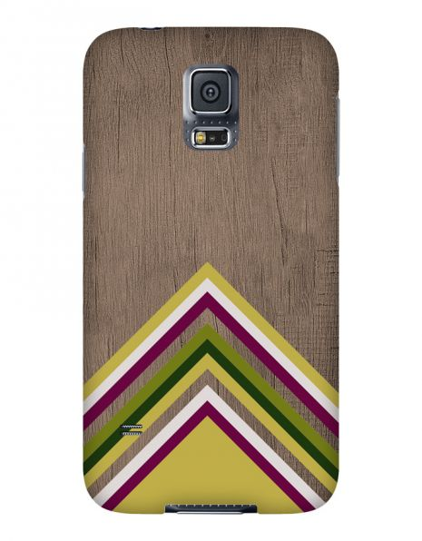 Samsung Galaxy S5 3D-Case (glossy) Gibilicious Design Yellow pattern wood von swook! - switch your look