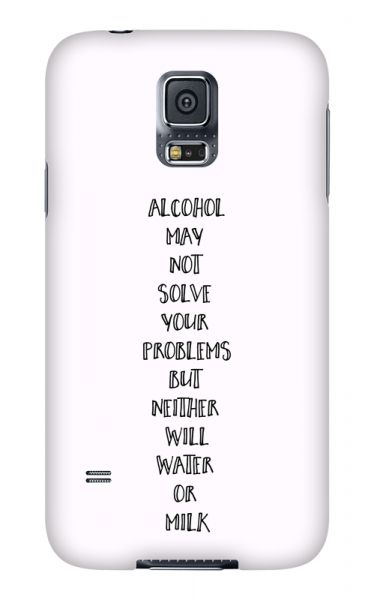 Samsung Galaxy S5 3D-Case (glossy) Gibilicious Design Alcohol may not solve problems von swook! - switch your look