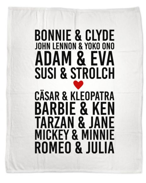 Romeo & Julia (+Text) - Kuscheldecke