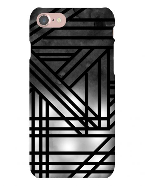 Apple iPhone 7 3D-Case (glossy) Gibilicious Design Grey smoke with black lines von swook! - switch your look