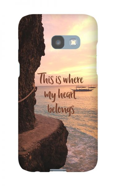 Samsung Galaxy A3 (2017) 3D-Case (glossy) Gibilicious Design Where my heart belongs von swook! - switch your look