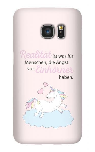 Samsung Galaxy S7 3D-Case (glossy) A world with unicorns von swook! - switch your look