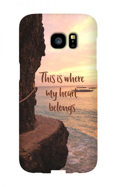 Samsung Galaxy S7 Edge 3D-Case (glossy) Gibilicious Design Where my heart belongs von swook! - switch your look