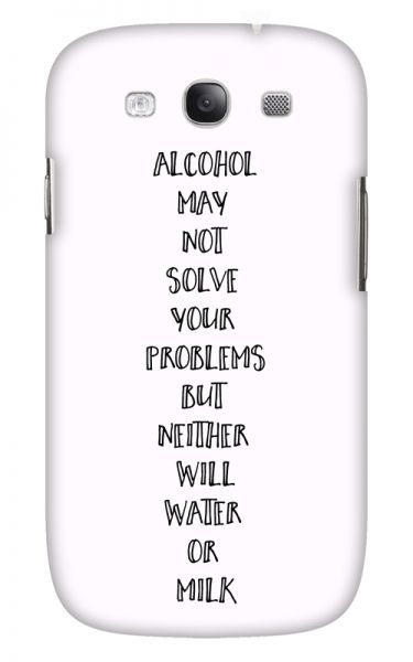 Samsung Galaxy S3 (i9300) 3D-Case (glossy) Gibilicious Design Alcohol may not solve problems von swook! - switch your look