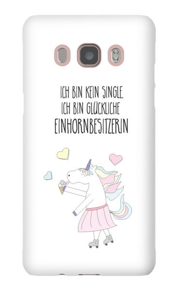 Samsung Galaxy J5 (2016) 3D-Case (glossy) Happy unicorn owner von swook! - switch your look