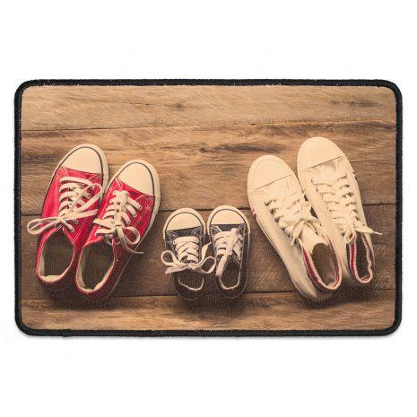 Fußmatte personalisiert mit drei Namen - Familie – 3 Sneakers