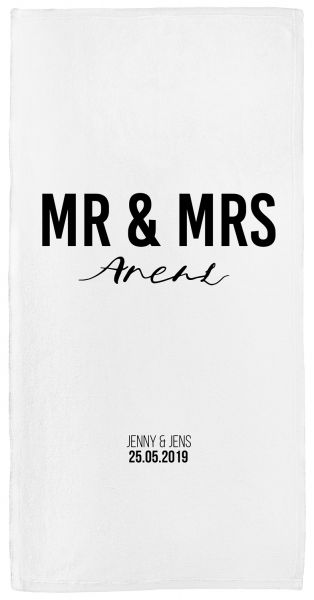 Mr & Mrs - Handtuch mit Namen